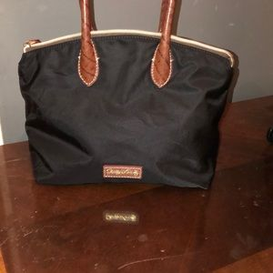 Nice black & brown nylon Dooney & Bourke Purse.
